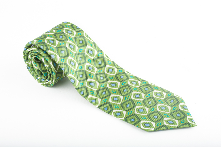 Printed Diamond - Green/Light Blue/Beige