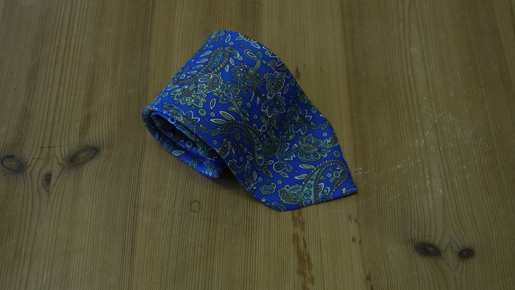 Printed Paisley - Mid Blue/Green