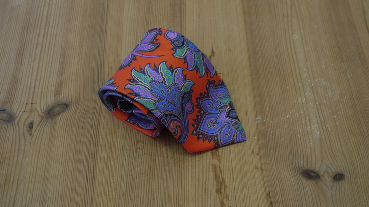 Printed Paisley - Orange/Purple/Green