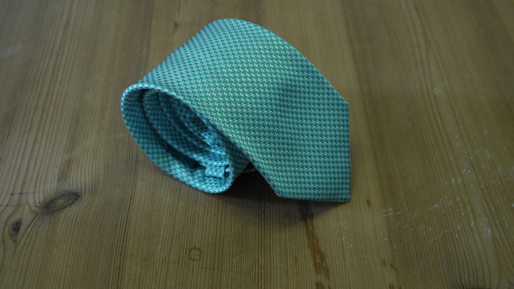 Silk Dogtooth - Turquoise/White