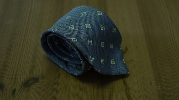 Linen/Silk Square - Grey/White/Yellow