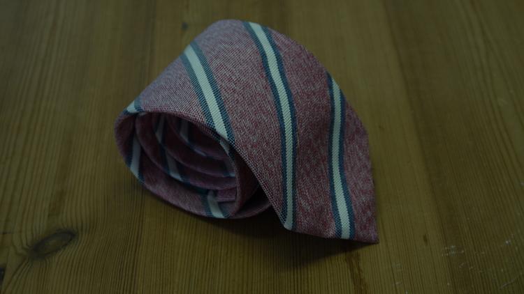Silk Regimental - Red/Grey/White
