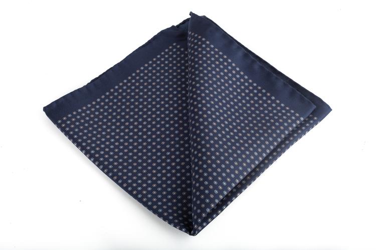 Silk Floral - Navy Blue/Grey/Light Blue