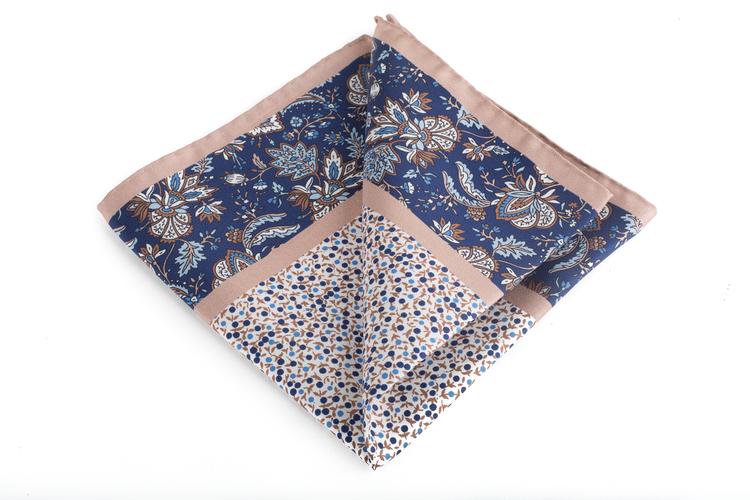 Silk Floral Multi - Navy Blue/White/Beige