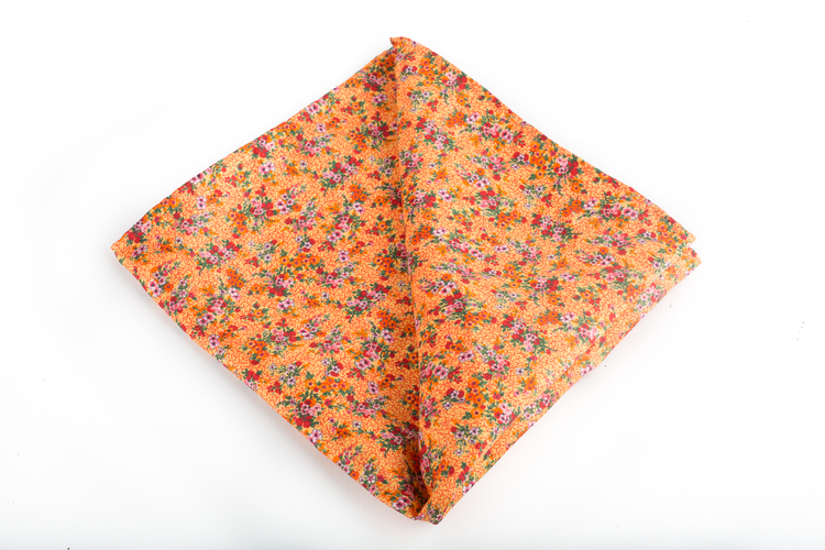 Silk Floral Vintage - Orange/Green/Pink