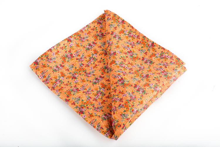 Silk Floral Vintage - Orange/Green/Pink
