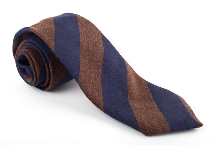 Wool Regimental - Brown/Navy Blue