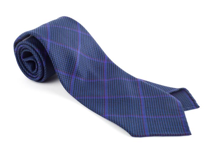 Wool Untipped Plaid - Mid Blue/Purple