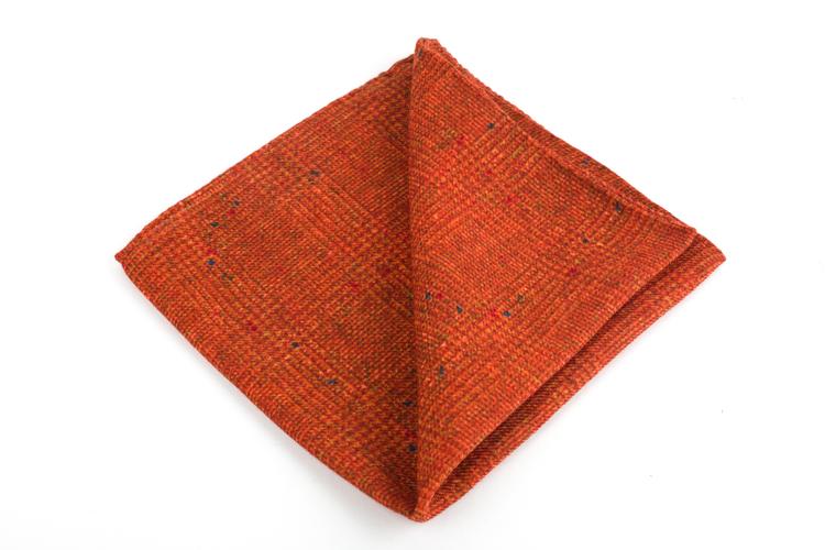 Wool Donegal Plaid - Orange