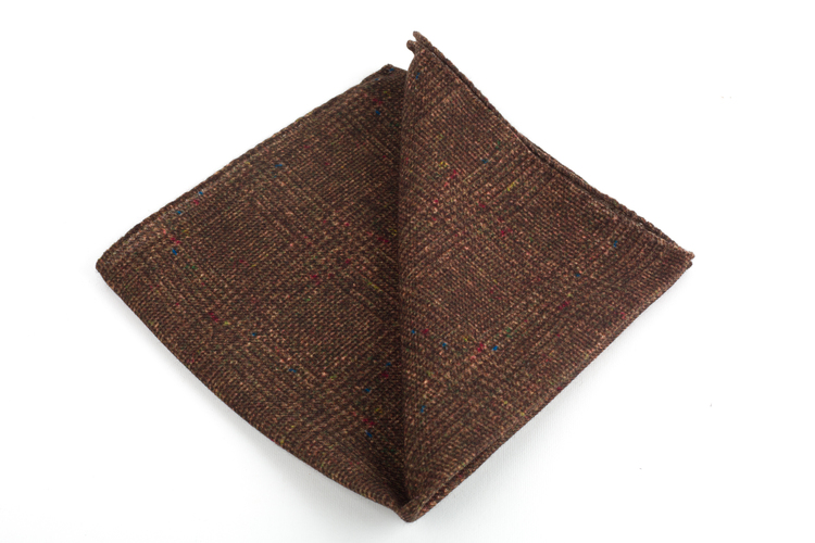 Wool Donegal Plaid - Brown