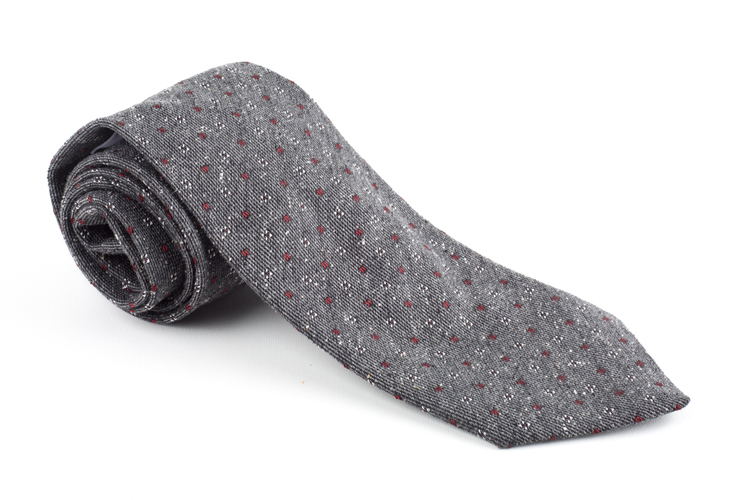 Wool Floral - Grey/Burgundy/White