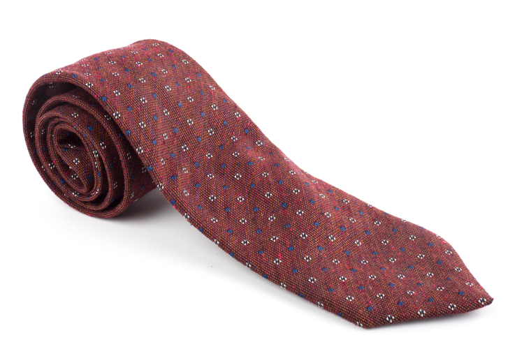 Wool Floral - Burgundy/Navy Blue/White