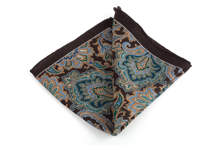 Wool Paisley - Brown/Light Blue/Green/Beige