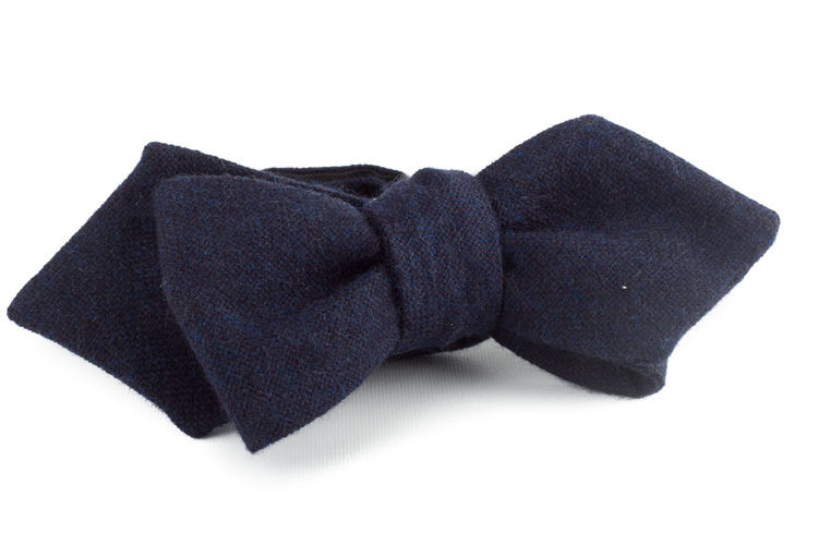Self tie Cashmere Solid - Navy Blue
