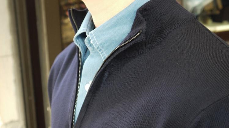Halfzip Merino Pullover - Navy Blue