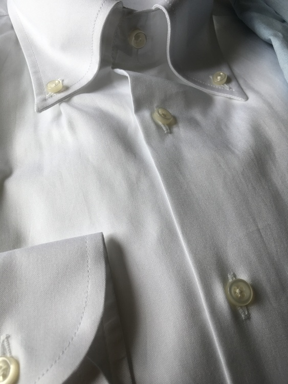 Fine Pinpoint Oxford Shirt - Button Down - White