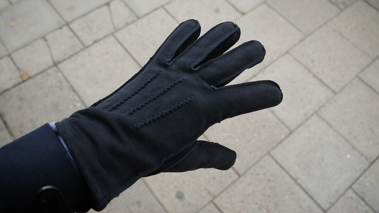 Suede Gloves - Dark Grey