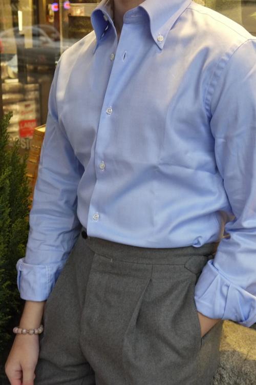 Solid Royale Oxford Shirt - Light Blue