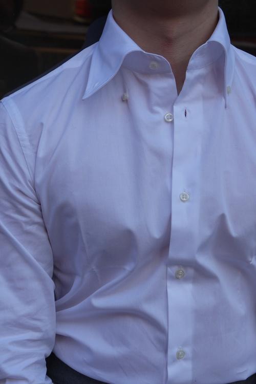 Fine Pinpoint Oxford Shirt - Button Down - White