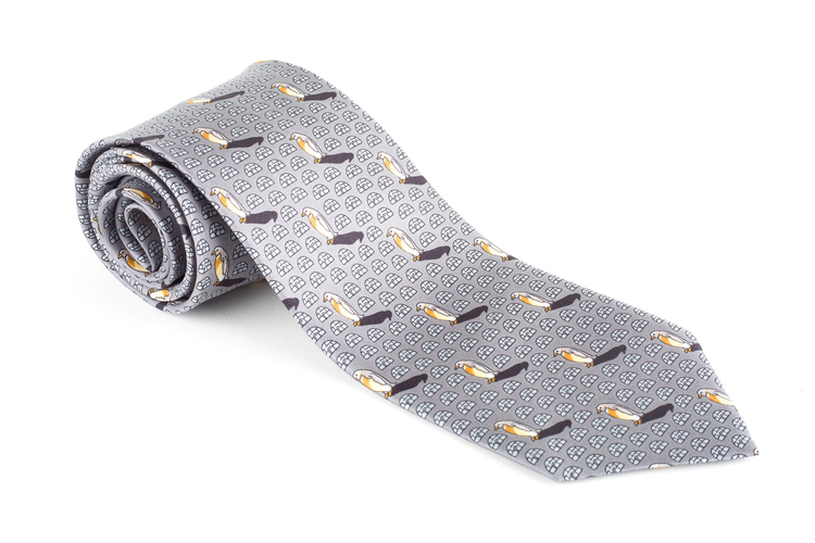 Penguin Vintage Silk Tie - Grey