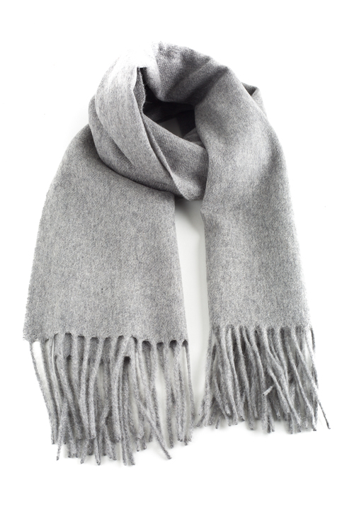 Solid Cashmere Scarf - Grey