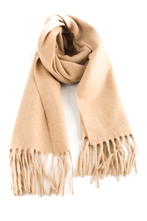 Solid Cashmere Scarf - Camel