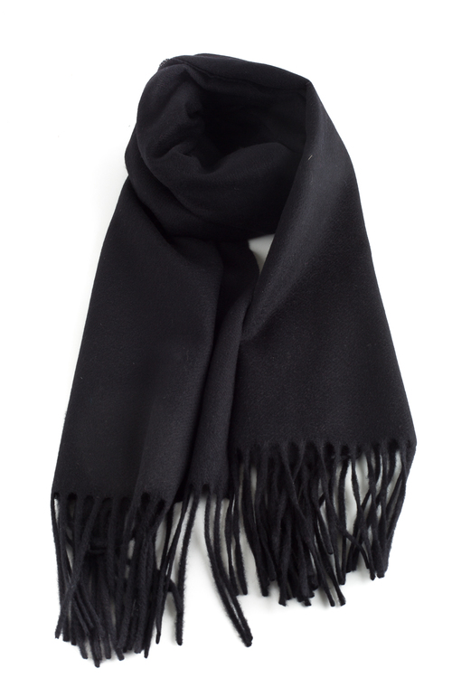 Solid Cashmere Scarf - Navy Blue