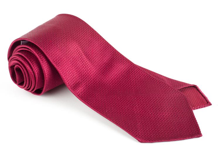 Solid Scales Silk Tie - Untipped - Burgundy