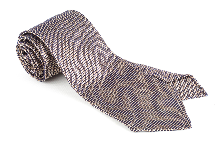 Solid Garza Silk Tie - Untipped - Beige