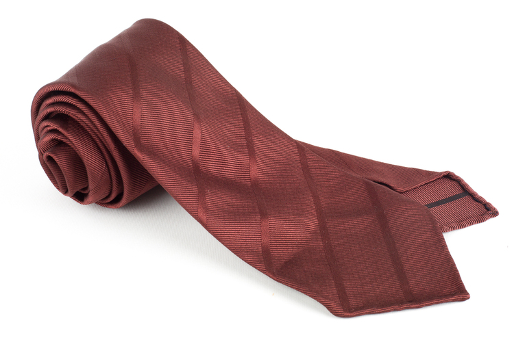 Regimental Silk Tie - Untipped - Brown