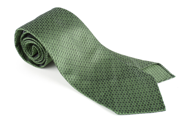 Alveare Silk Tie - Untipped - Green