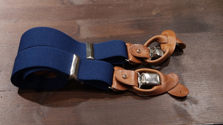 Solid Suspenders Stretch - Navy Blue