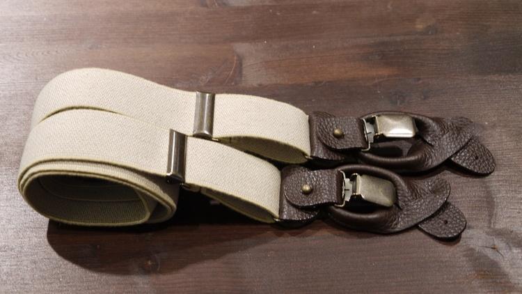 Semi Solid Suspenders Stretch - Beige