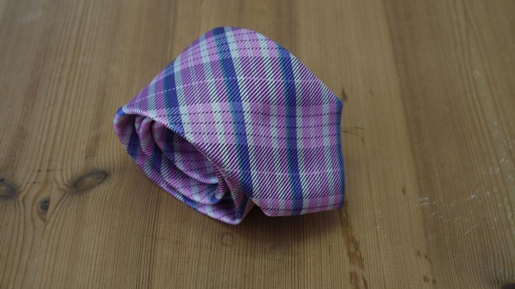 Silk Check  - Pink/Purple/White/Green