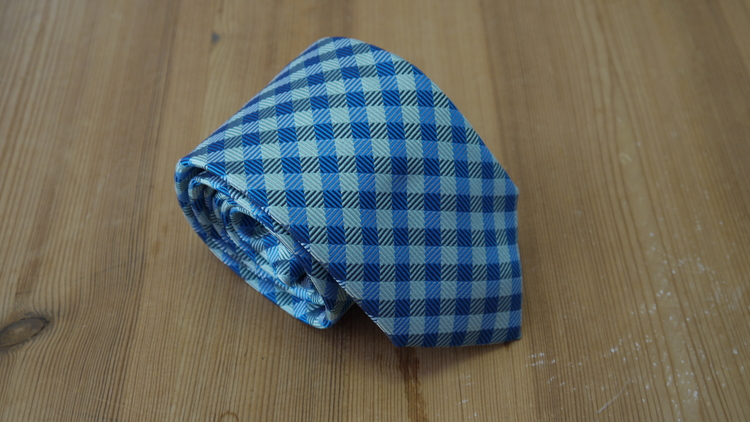Silk Check  - Light Blue/Turquoise