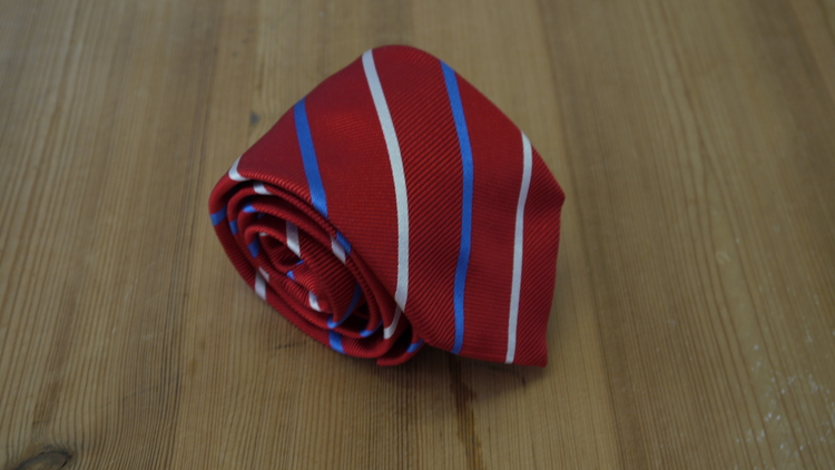 Silk Regimental - Red/Light Blue/White