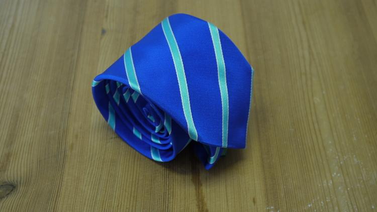 Silk Regimental - Mid Blue/Turquoise
