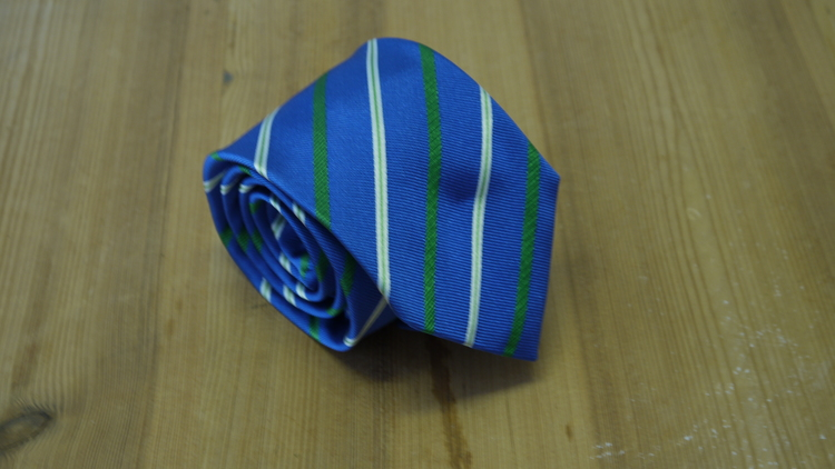 Silk Regimental - Mid Blue/Green/White