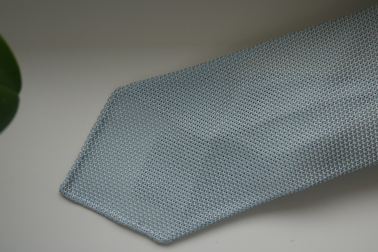 Solid Silk Grenadine Fina Tie - Untipped - Mint