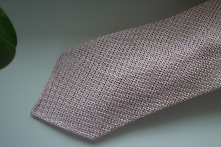 Solid Silk Grenadine Fina Tie - Untipped - Pink