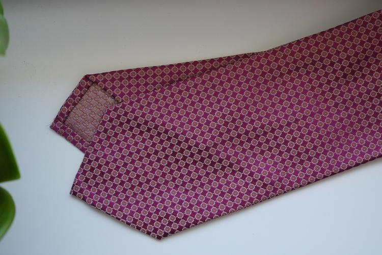 Floral Silk Tie - Cerise/Peach