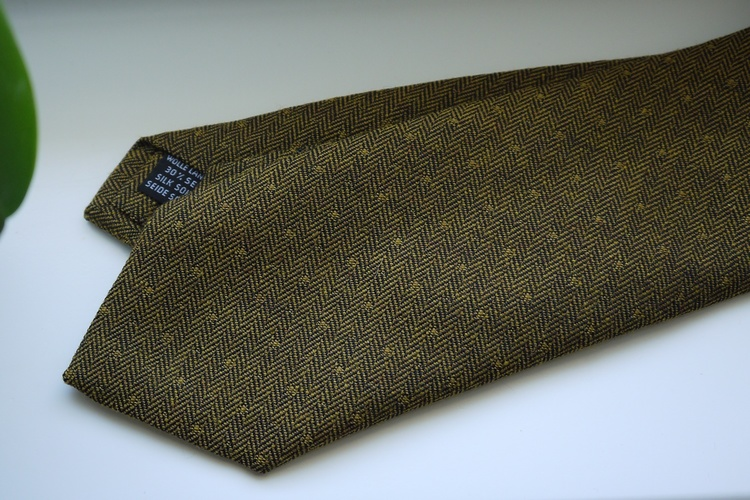 Small Floral Wool/Silk Tie - Yellow