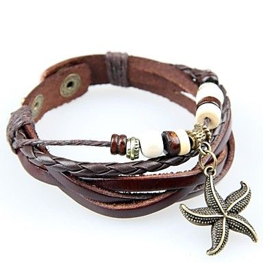 Läderarmband sjöstjärna