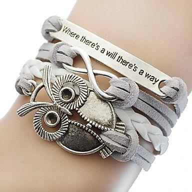 Armband Owl Silver/Grå