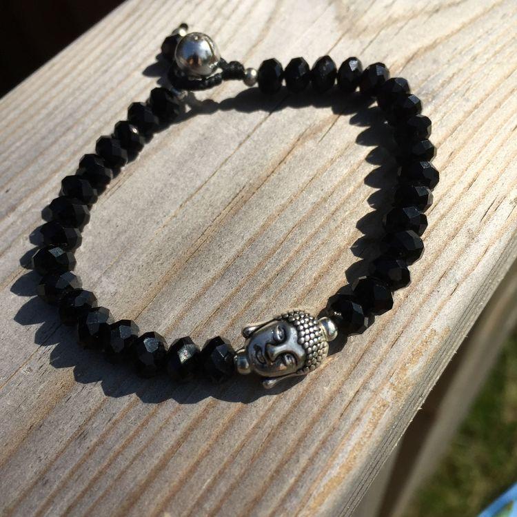 Armband Budha svart