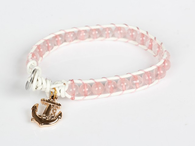 Armband - Ankare rosa