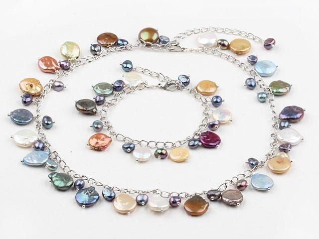 Halsband + Armband Multicolor