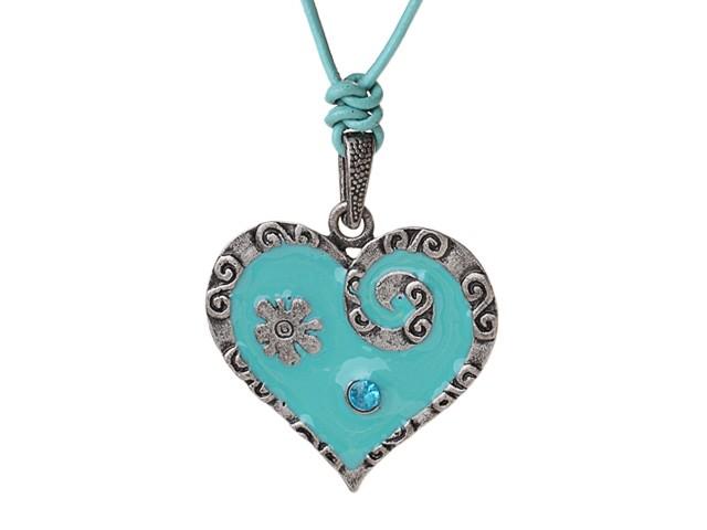Halsband Vintage Tibet Heart