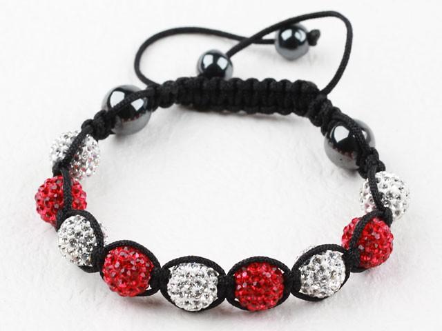 Shamballa - Röd & Silver (REA)