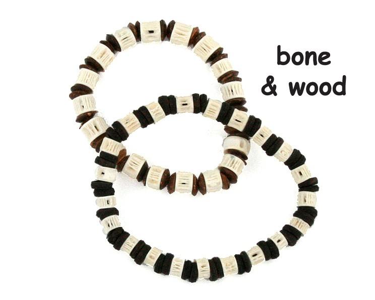 Armband Bone & Wood